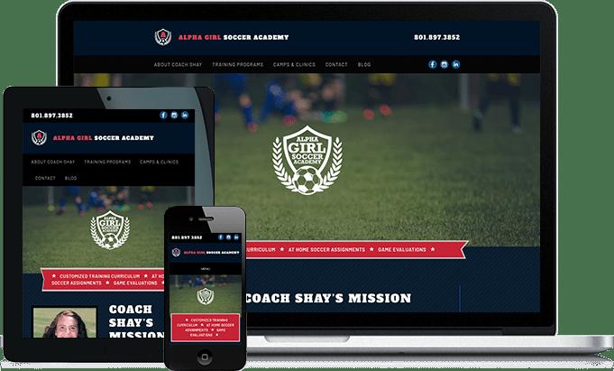Alpha Girl Soccer responsive website design