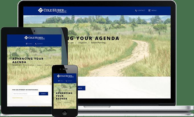 Cole Huber Attorneys responsive website design