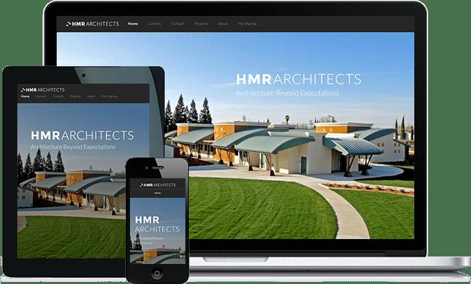 HMR Architects responsive website design