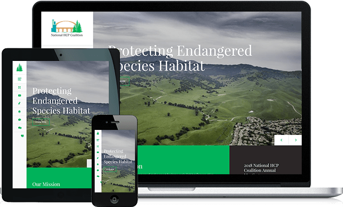 NHCP Coalition responsive website design