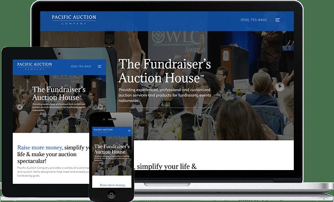 Pacific Auction responsive website design