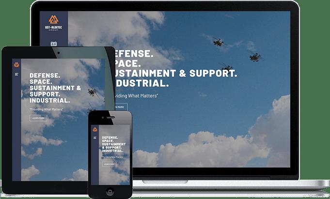 UST Aldetec responsive website design